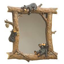 honey black bears mirror home rustic my dream home pinterest