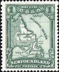 Newfoundland Map The Newfoundland Map Stamp