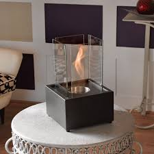 dazzling small ethanol fireplace ideas with great glass wall