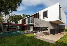 u shaped house with courtyard modern concrete villa with beautiful interior courtyard