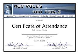 attendance certificate template u2013 24 animal specialist sample