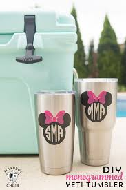 how to diy disney monogram for a yeti tumbler the polka dot chair
