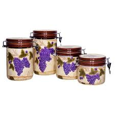 grape kitchen canisters cheap tuscan kitchen canister sets find tuscan kitchen canister