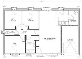 plan maison 4 chambres plain pied gratuit plan maison plein pied 100m2 13 plan de maison gratuit au