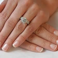 ring set trendy wedding ring set on finger 11 trendy mods