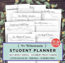 high school agenda student planner 2017 2018 academic planner printable college