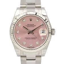 rolex steel oyster bracelet images Rolex datejust 31 lady midsize white gold steel pink diamond dial jpg