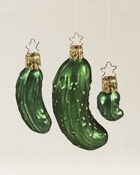 the legend of the pickle blown glass ornament set pays homage to