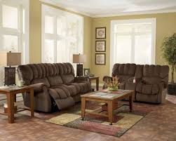 luca home 2 piece split brown leather living room set leather