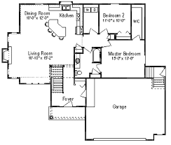48 ranch floor plan for 1400 foot home h87 ranch house plan 3