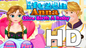 baby care games frozen anna give birth a baby game gameplay