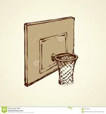 basketball basket vector drawing stock vector image 100103857