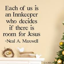 christmas each of us is an innkeeper who decides if there is