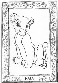 lion king coloring pages simba nala