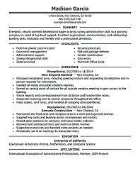 Plumber Resume Sample by Free Medical Receptionist Resume Medical Receptionist Resume
