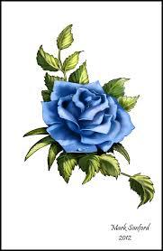 blue rose tattoo design by multiimage on deviantart
