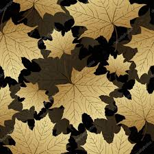 Luxurious Decorative Element Golden Leaves Seamless Pattern Vector Background Maple On A