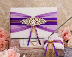 purple guest book blush wedding guest book pen pen holder wedding