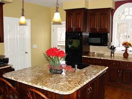 Kitchen Cabinets Staining by Classi High Gloss Brown Varnished Storage Island Green Ceramic On