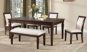 dining room with bench harwich dining set with upholstered dining bench the dump
