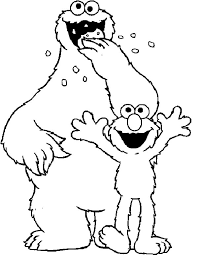 elmo and cookie monster coloring pages to print murderthestout