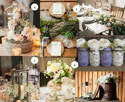 Country Centerpieces How To Organize A Country Chic Wedding