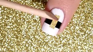 黑白配 u003d時尚經典指甲彩繪black and white classic nail art youtube