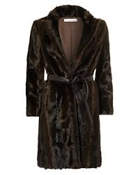 light brown vest womens iblues womens faux mink coat straight cut dark brown jacket