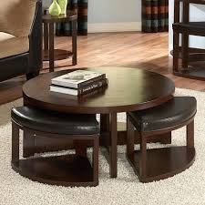 Coffee Table  Coffee Table With Chairs Underneath Round Seats - Kitchen table with stools underneath