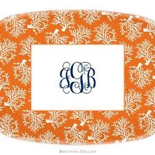 personalized melamine platters personalized melamine coral repeat platter from boatman geller