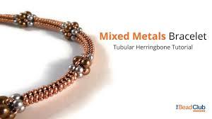 mixed metals bracelet a tubular herringbone stitch tutorial youtube