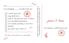 Invitation Reply Card Creative Write Rsvp Card Funny Wording Of Wedding Invitation