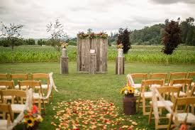 Wedding Altar Backdrop Rustic Wood Pillars And Altar Backdrop