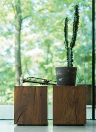 Wood Block Side Table Oak Block A Strong Piece Of Wood For Your Home Team 7