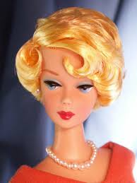 bubble cut hair style barbie with a concord grape hair color was hand rooted by mikelman