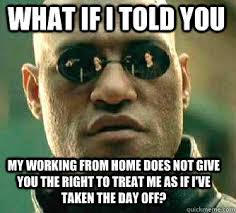 Working From Home Meme - what if i told you my working from home does not give you the