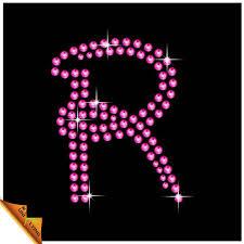 pink letter r design diy rhinestone alphabet letters buy diy