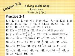 2 practice solving two step equations form g answer key tessshlo