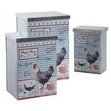 boites cuisine série de 3 boites cuisine en métal galvanisé achat vente boites