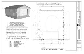 Garage Floor Plans Free Free Garage Plans And Designs Woodwork 16 X 24 With Simple Luxamcc