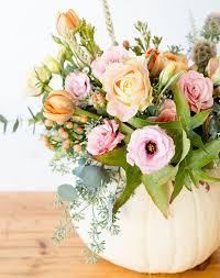 host gift pumpkin flower arrangement thanksgiving host gift purewow