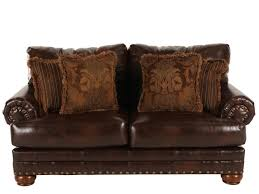 Brown Leather Loveseat Ashley Millennium Performance Leather Antique Loveseat Mathis