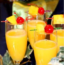 pineapple martini recipe hawaiian mimosas champagne and orange pineapple juice garnished