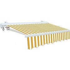 bracci per tende da sole tenda da sole cassonata per balconi con bracci bianco giallo