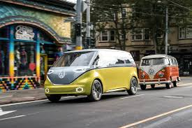 new volkswagen bus electric volkswagen i d buzz concept first drive review automobile magazine
