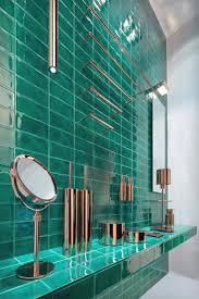 bathroom light green subway tile sea green subway tile dark