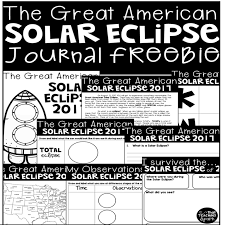 solar eclipse activities for the elementary classroom that