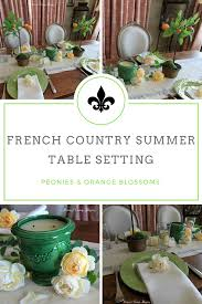 peonies and orange blossoms summer french table setting