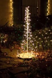 diy ideas make a tree of lights using a basketball pole