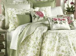 Black And White Toile Bedding French Green Toile Duvet With Flower Pattern Accent For Bedroom